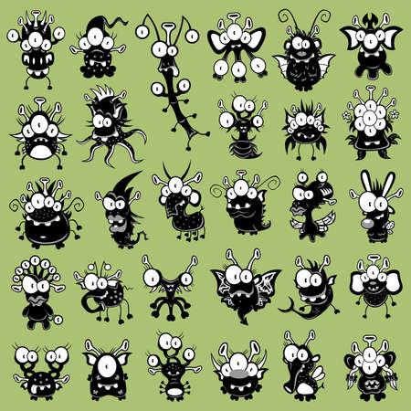 Dibujos animados de monstruos, duendes, fantasmas, Extraterrestres
