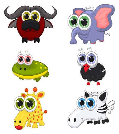 avestruz: Animales de dibujos animados