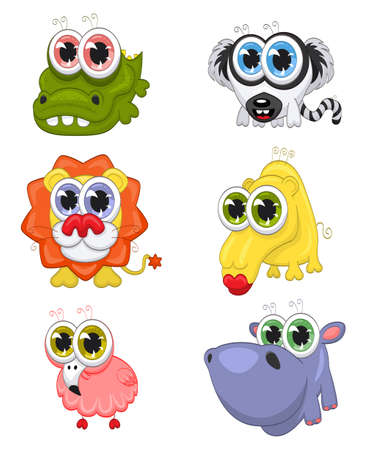 Cartoon animals Stock Vector - 10634820