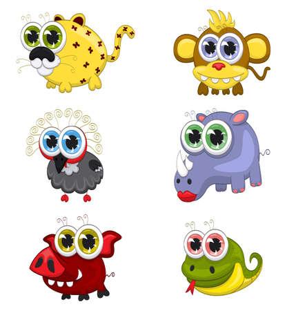 wart: Cartoon animals