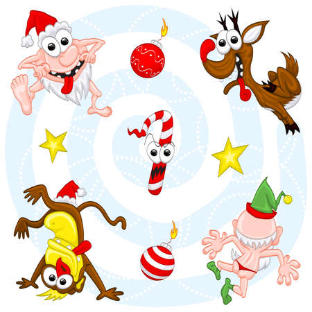Crazy christmas set Stock Vector - 11666890