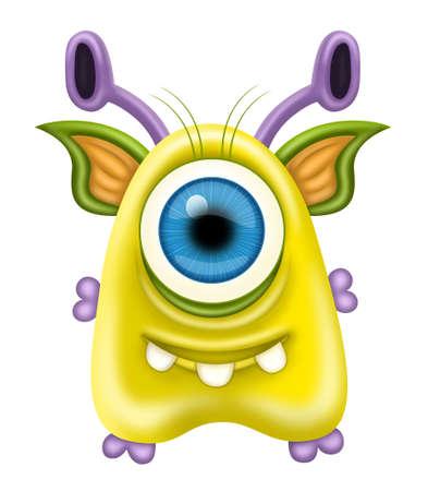 cartoon alien: Monster
