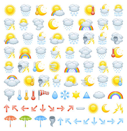 Weather icons Stock Vector - 12117623