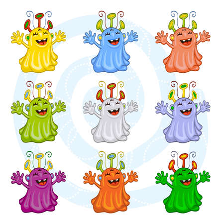 Monsters, aliens for Halloween or other events Vector