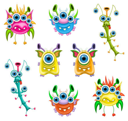 Monsters for Halloween or other events Stock Photo - 13501272