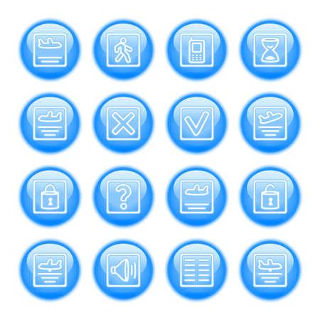 status: Set of icons to show flight status Illustration