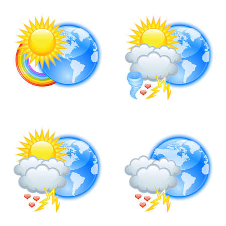 Love weather icons for valentine's day Stock Vector - 13952848