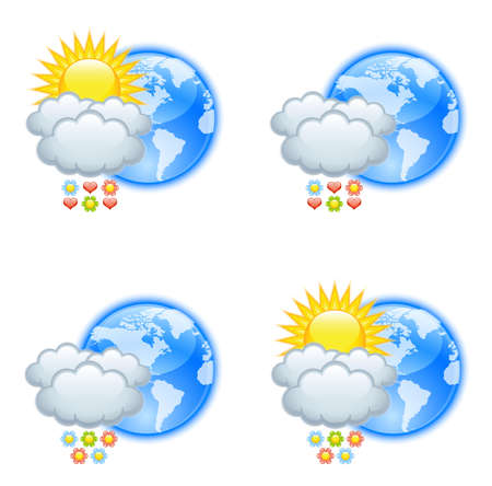 acirc: Love weather icons for valentines day