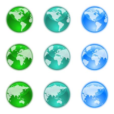 globe asia: Earth globes set