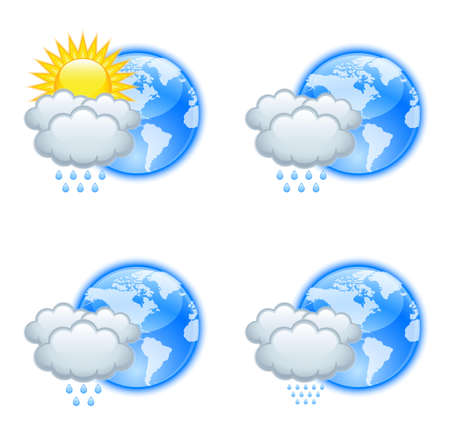 meteorological: Weather icons Illustration