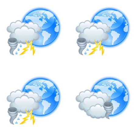 weather map: Weather icons Illustration