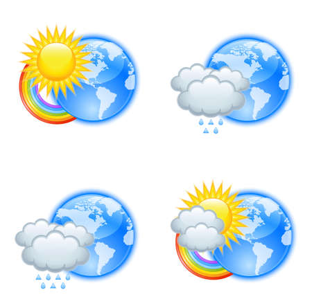 meteorology: Weather icons Illustration