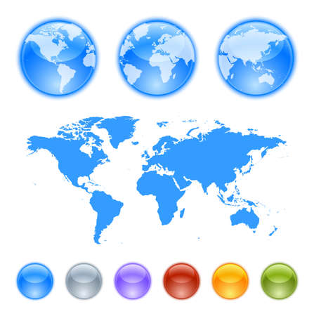south pacific: Earth globes creation kit