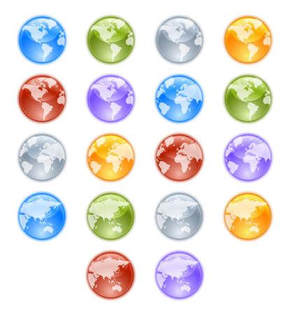 south east asia: Earth globes set