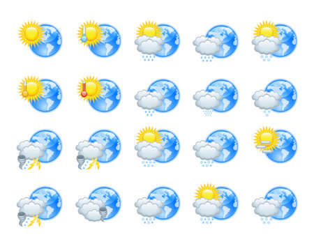 Weather icons Stock Vector - 14886687