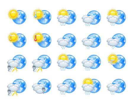 whirlwind: Weather icons Illustration
