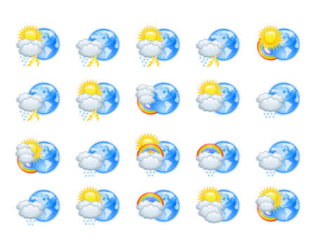 Weather icons Stock Vector - 14886702