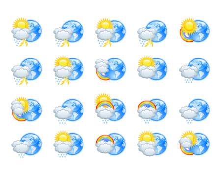 meteorological: Weather icons Illustration