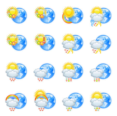 Love weather icons for valentine's day Vector