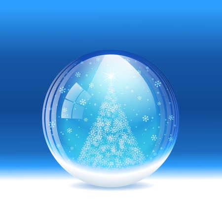 snow globe: snow globe