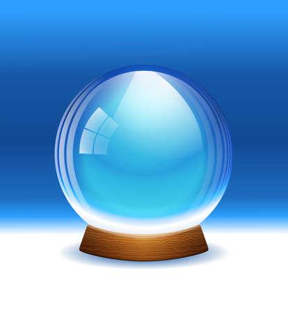 augur: empty transparent snow globe