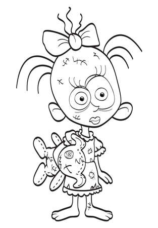 Little zombie-girl Vector