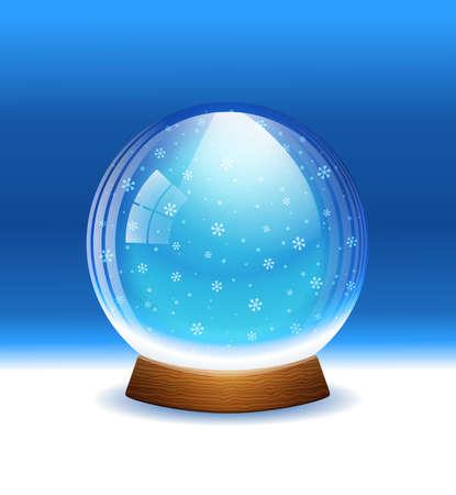 Vector globo de nieve en capas Vectores