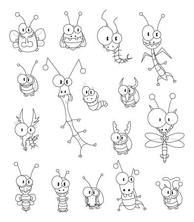 stick insect: Cartoon insects