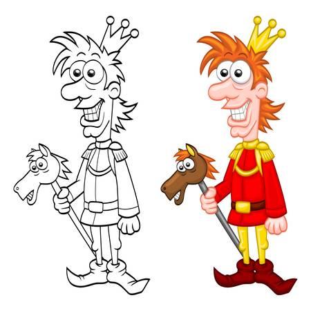 fairytale character: Cartoon charming prince