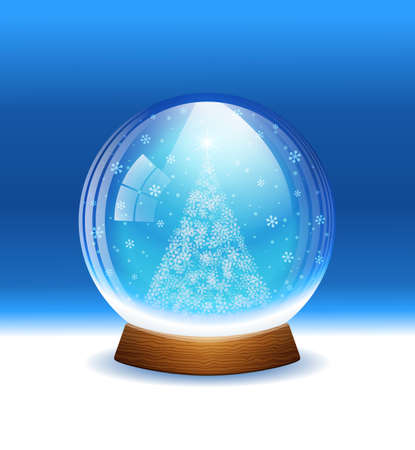 Vector snow globe. Layered. Vector