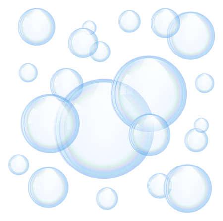 bulles de savon: Vecteur bulles de savon Illustration