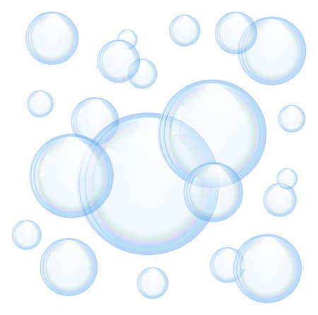detersivi: Vector bolle di sapone Vettoriali
