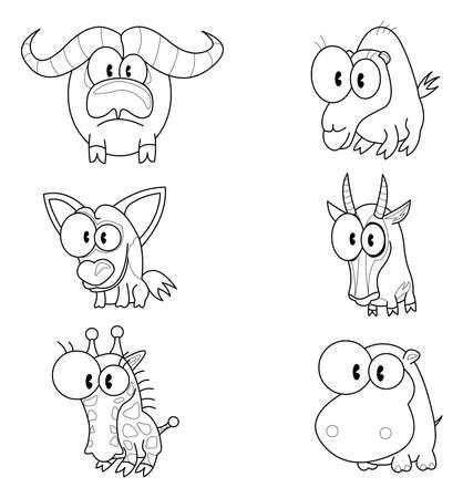 gazelle: Cartoon animals