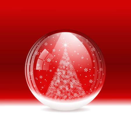 Vector snow globe. Layered. Stock Vector - 16872478