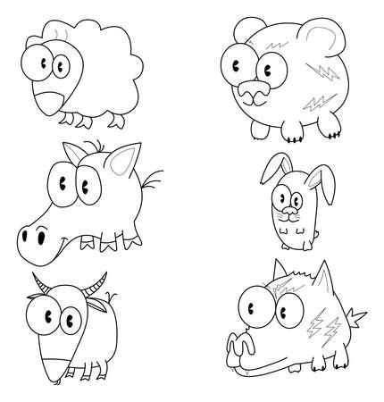 Cartoon animals Stock Vector - 16872477
