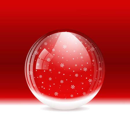 vitreous: Vector snow globe. Layered. Illustration