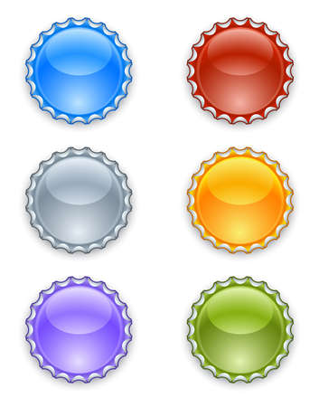 Bottle caps Stock Vector - 17170471