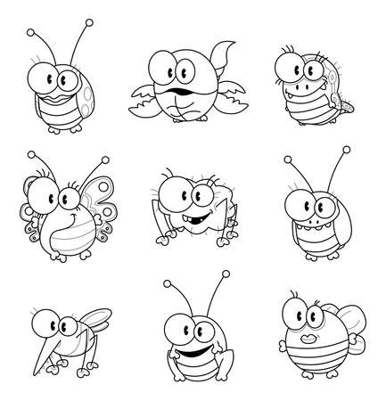 Cartoon insects Stock Vector - 17259515
