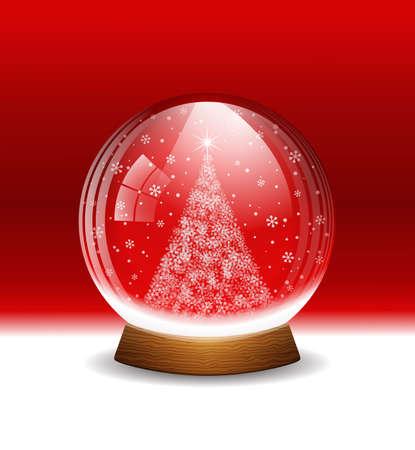 Vector snow globe. Layered. Illustration