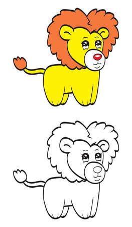 undomesticated: Cute cartoon lion Illustration