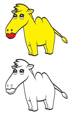 Cute cartoon camel Vector