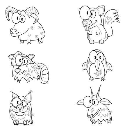 racoon: Cartoon animals