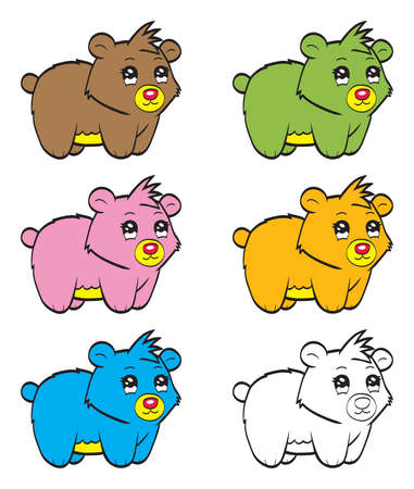 undomesticated: Cute cartoon baby bear Illustration