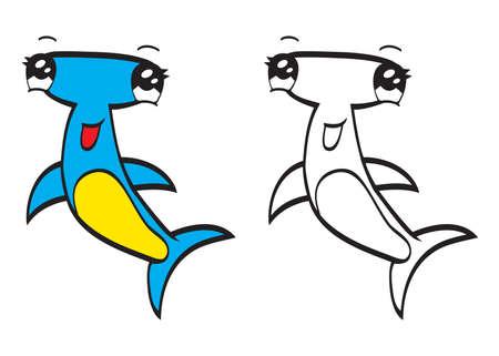 hammerhead: Simpatico cartone animato martello Vettoriali