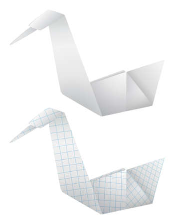 workmanship: Origami birds  Illustration