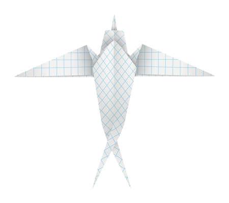 Origami swallow Vector