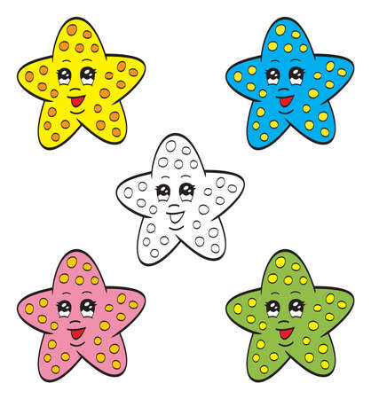 Cute starfish Stock Vector - 19021875