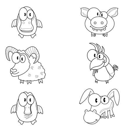 Some cartoon animals Vector