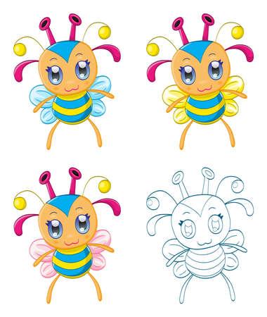 Cartoon chibi fantasy creatures  monsters Stock Vector - 19221186