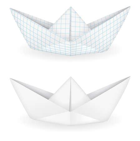 foglio a righe: Navi origami Vettoriali